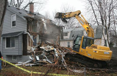 Home commercial demolition